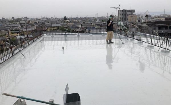 川崎市 マンション 屋上防水工事 進捗状況