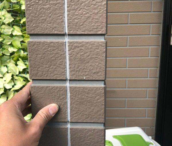 神奈川県川崎市 外壁塗装 下地処理 コーキング打ち替え工事 オートンイクシード