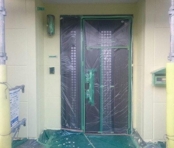 神奈川県川崎市 外壁塗装 下地処理 養生 オートンイクシード ケレン作業