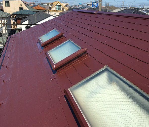 神奈川県川崎市 屋根塗装 天窓修理 コーキング工事 日本中央研究所 遮熱塗料 アドグリーンコート