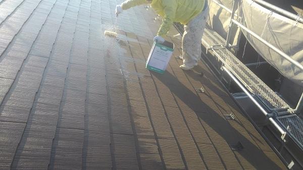 神奈川県川崎市 雨樋修理 屋根塗装 工程 日本ペイント 遮熱塗料 サーモアイ サーモアイシーラー