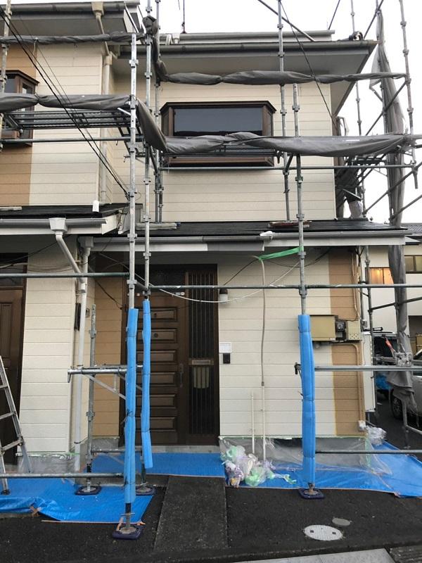 神奈川県川崎市 屋根塗装 外壁塗装 近隣の方々へのご挨拶 足場設置