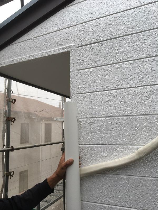 神奈川県川崎市 屋根塗装・雨樋交換 竪樋交換