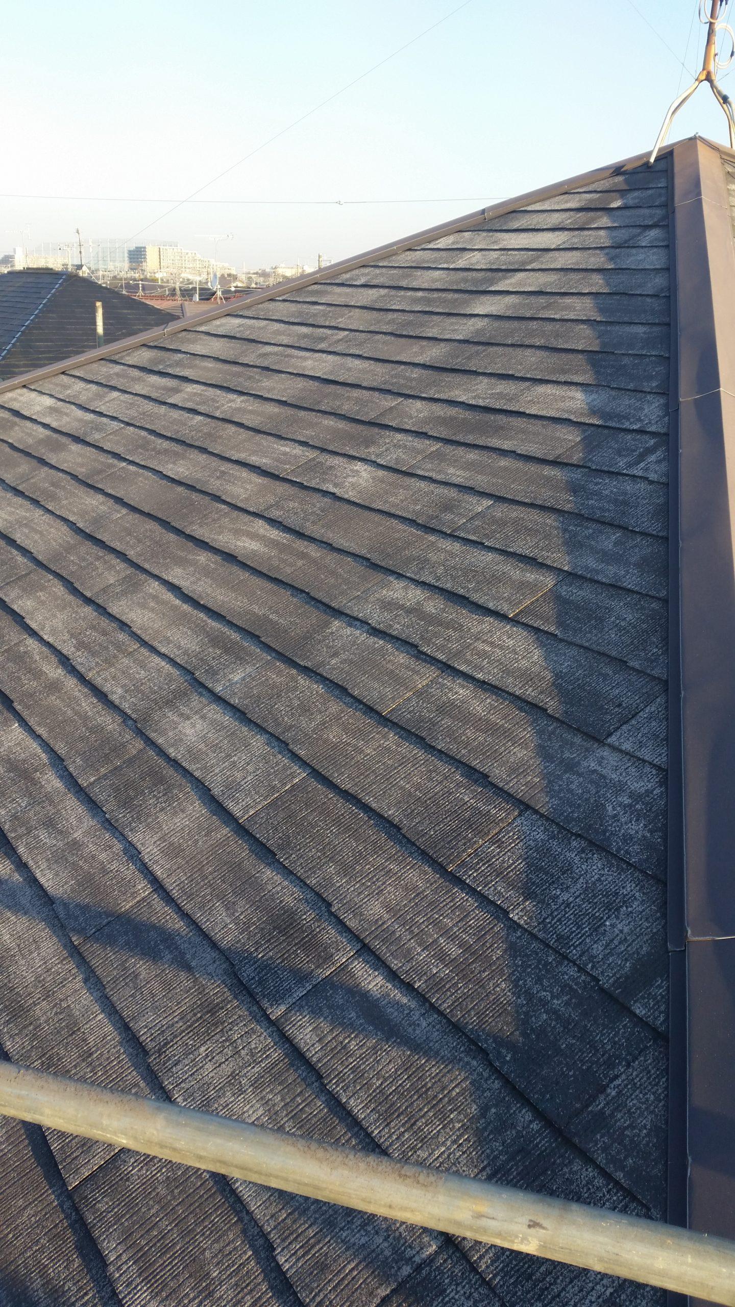 神奈川県川崎市外壁・屋根塗装 高圧洗浄後の屋根の画像