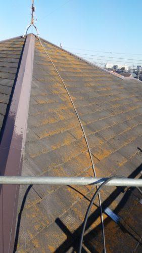 神奈川県川崎市外壁・屋根塗装 既存屋根の画像
